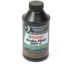 Brake Fluid: Castrol DOT 4 Synthetic 12 Ounce Bottle