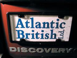 black license plate cover