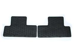 Floor Mats - Rear Set Of Two - Black Rubber
