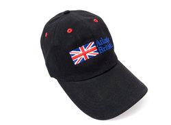 Baseball Cap Hat With Embroidered Atlantic British Logo, Black