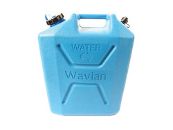 Water Jerry Can By Wavian, 5 Gallon (22 Liter), Heavy Duty Plastic, Blue, Bpa-Free And Uv-Stabilized